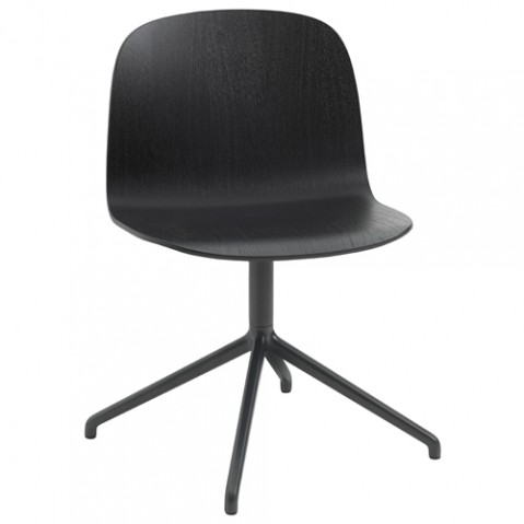 chaise pivotante visu wide muuto noir