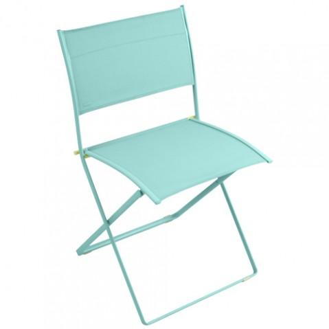 chaise plein air fermob bleu lagune