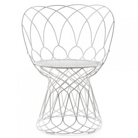 chaise retrouve emu blanc