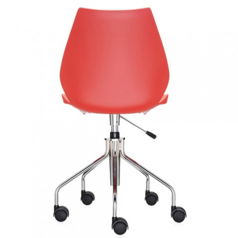 chaise roulettes maui kartell rouge
