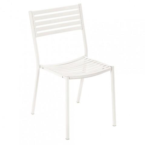 chaise segno emu fer blanc