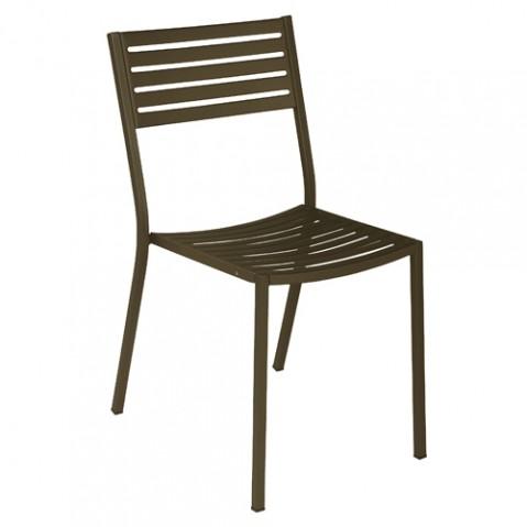 chaise segno emu marron