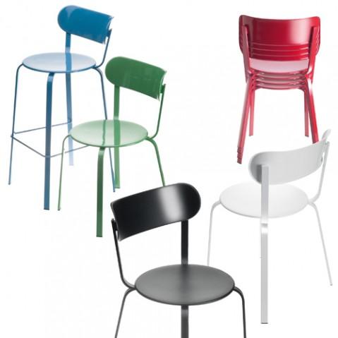 chaise stil la palma laque vert