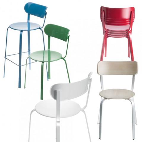 chaise stil la palma laque bleu