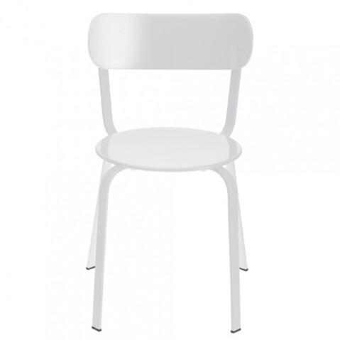 chaise stil la palma laque blanc