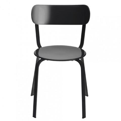 chaise stil la palma laque noir