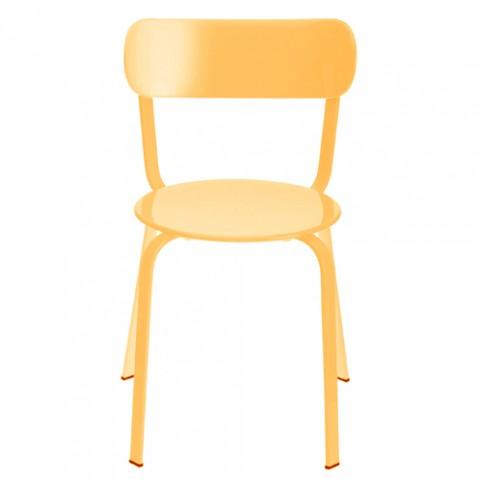chaise stil la palma laque orange