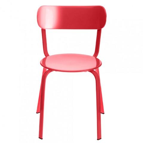 chaise stil la palma laque rouge