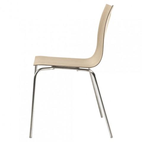 chaise thin la palma chene blanchi