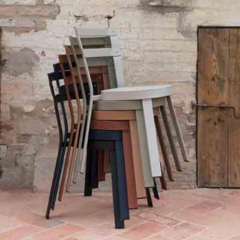 chaise thor emu gris vert