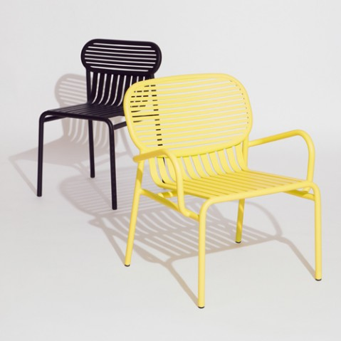chaise week end petite friture jaune
