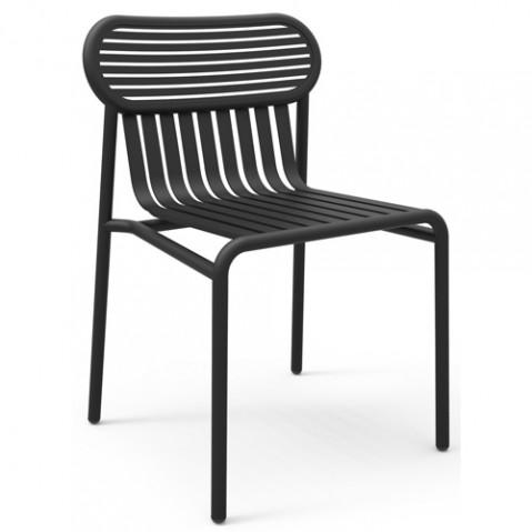 chaise week end petite friture noir
