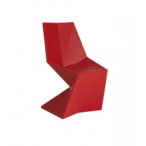 Vertex Silla Chaise Design Vondom Rouge