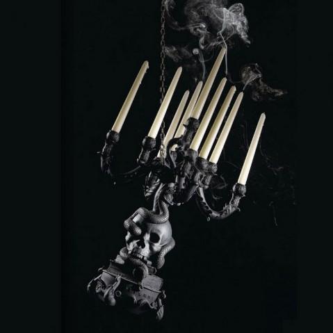 chandelier giant burlesque seletti crane noir