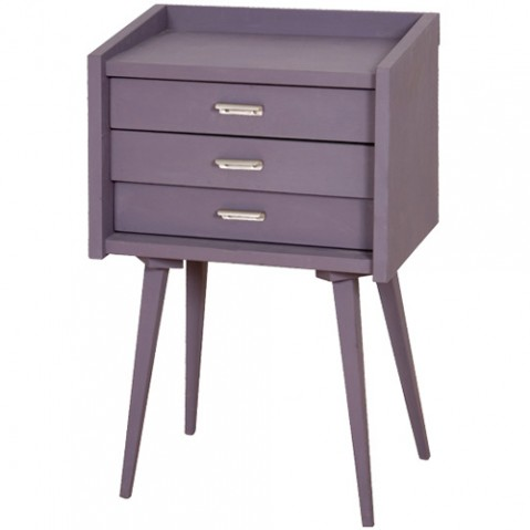 commode chevet secrets laurette violet
