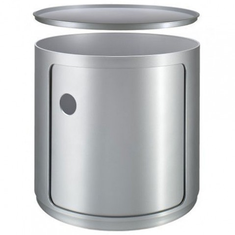 Componibili kartell meuble de rangement 1 élément haut argent