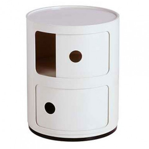 Componibili Meuble de Rangement 2 Elements Design KArtell Blanc