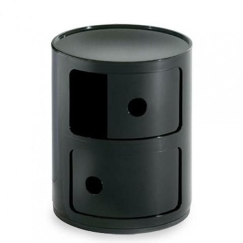 Componibili Meuble de Rangement 2 Elements Design Kartell Noir