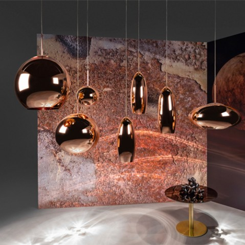 suspension copper round 25 tom dixon