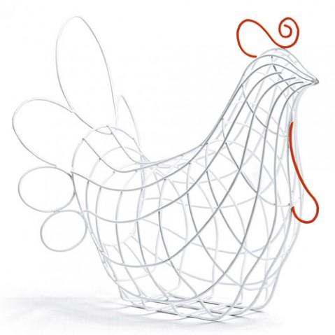 corbeille fantastico domestico seletti poule