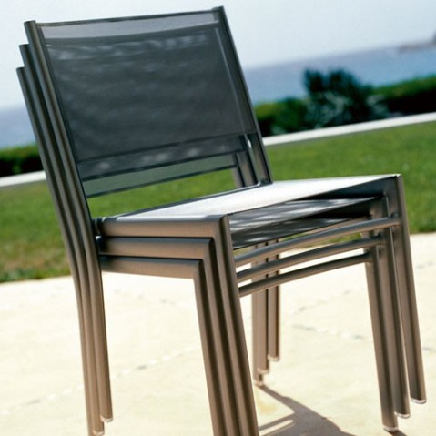 chaise costa fermob gris orage