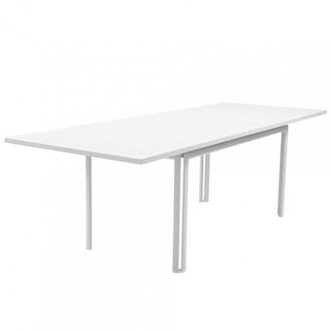 costa fermob table design extensible blanc