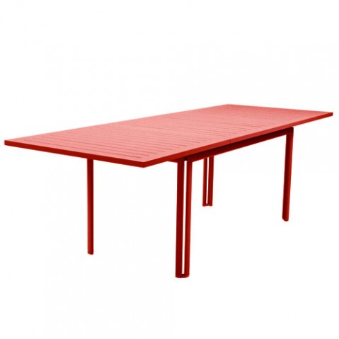 costa fermob table design extensible coquelicot