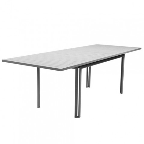 costa fermob table extensible gris metal