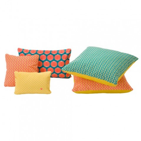 coussin pasteques fermob turquoise