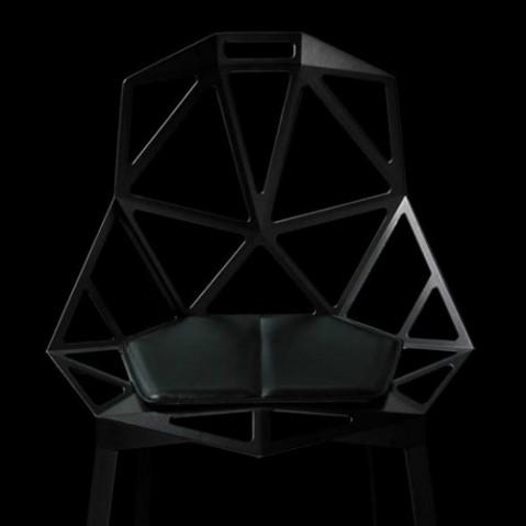 coussin chair one magis cuir noir