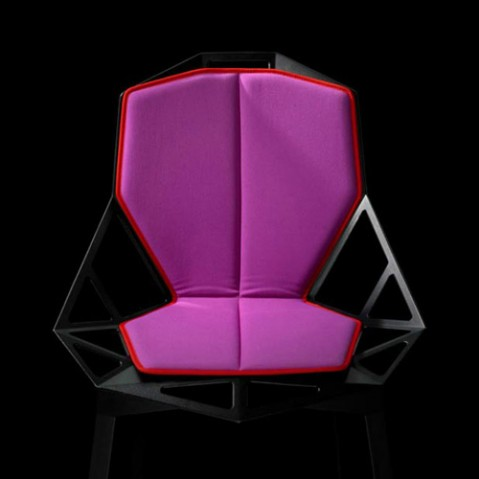 double coussin chair one magis fuchsia