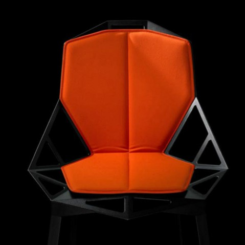 coussin double pour chaise one orange ourlet orange de magis. Black Bedroom Furniture Sets. Home Design Ideas