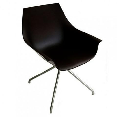 Cox Fauteuil Pivotant 4 pieds Design La Palma Noir