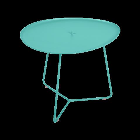 TABLE BASSE COCOTTE bleu lagune, de FERMOB