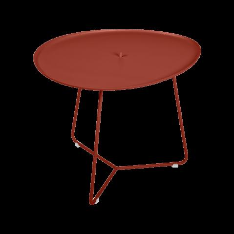 Table basse COCOTTE de Fermob, ocre rouge