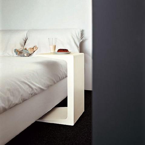 TABLE BASSE CU 45, Blanc de KRISTALIA