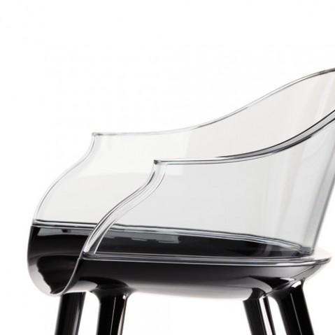 Cyborg Fauteuil Design Magis Noir transparent