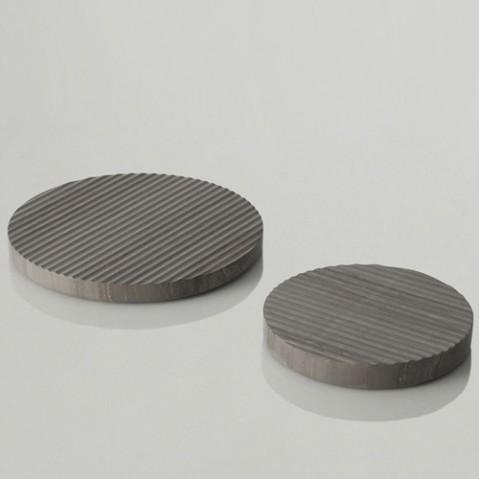 dessous plat groove 16 muuto gris