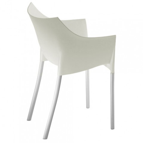 Dr. NO kartell fauteuil design blanc cire