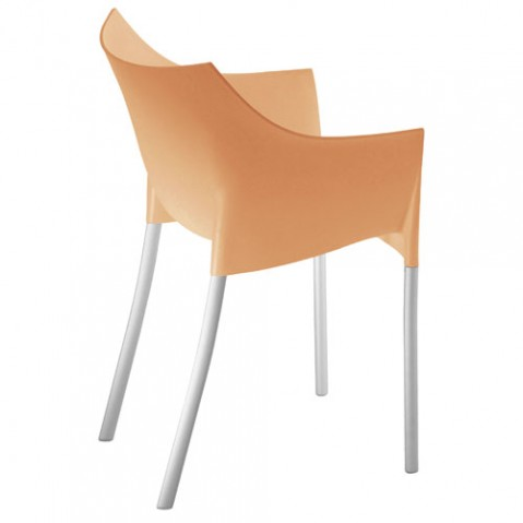 Dr. NO Kartell fauteuil design orange clair