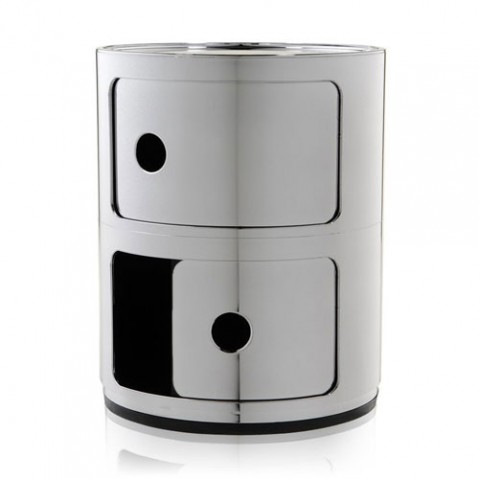 meuble rangement componibili 2 elements kartell cuivre