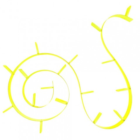 etagere bookworm 820 kartell jaune