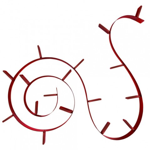 etagere popworm 820 kartell rouge