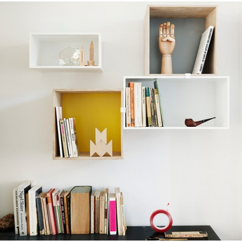 etagere mini stacked medium muuto blanc