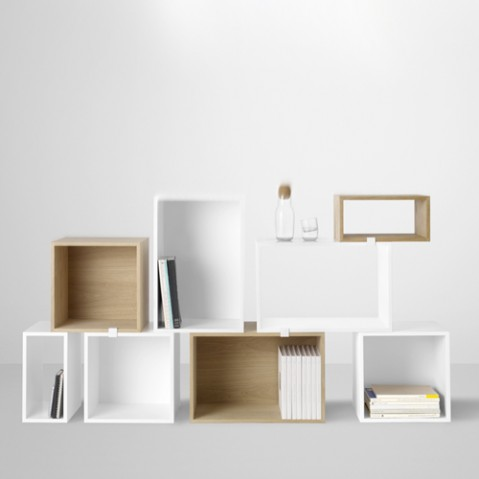 etagere stacked small muuto blanc