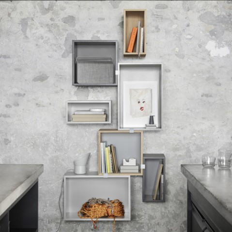 etagere stacked medium muuto gris clair