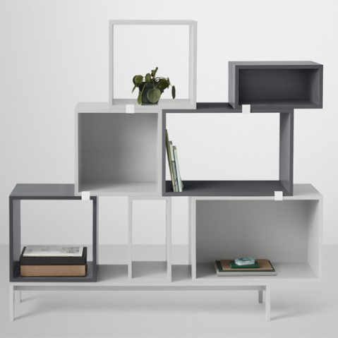 etagere stacked medium fond muuto gris fonce