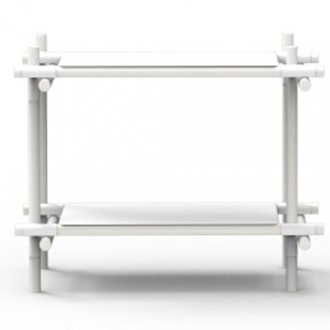 etagere stick system 1 2 menu blanc frene