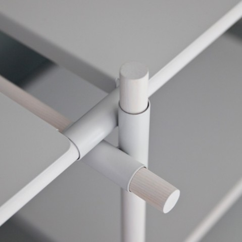 etagere stick system 1 4 menu blanc frene