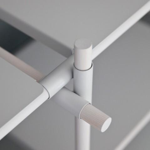 etagere stick system 3 4 menu noir frene
